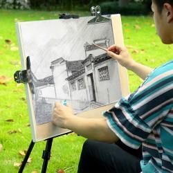 Trepied sevalet pictura, reglabil 50-150 cm, portabil, husa depozitare inclusa