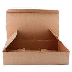 Cutie carton cu autoformare 185x125x255, natur, microondul E 360 gr, FEFCO 0215