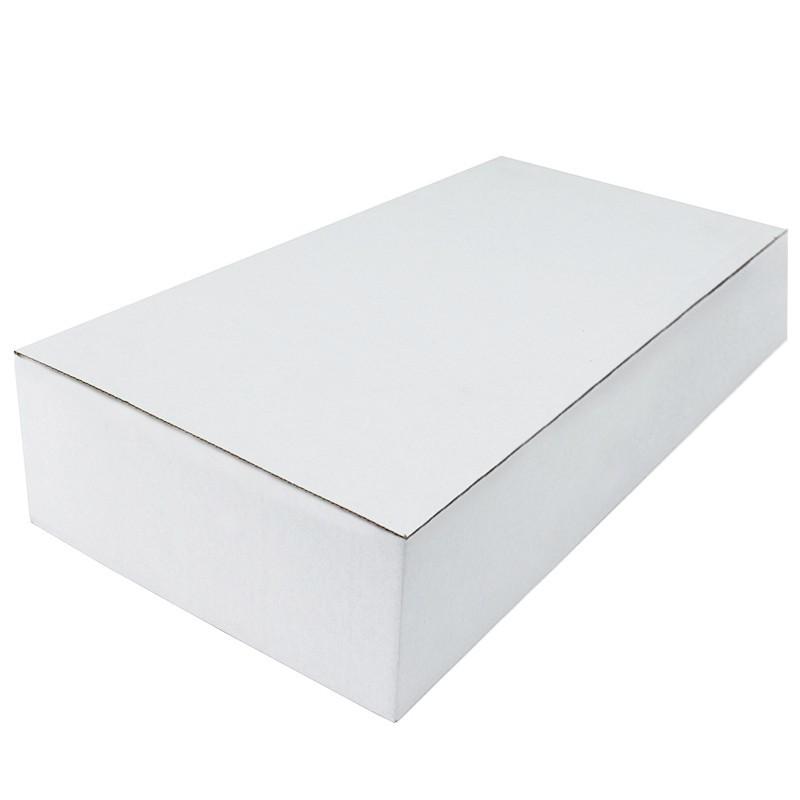 Cutie carton autoformare 185x125x255 alb, microondul E 400 gr, cu capac, FEFCO 0215