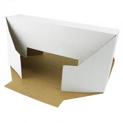 Cutie carton autoformare 370x230x230 alb, microondul E 400 gr, cu capac, FEFCO 0215