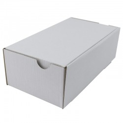 Cutie carton cu autoformare 410x370x140 alb, microondul E 400 g, FEFCO 0426