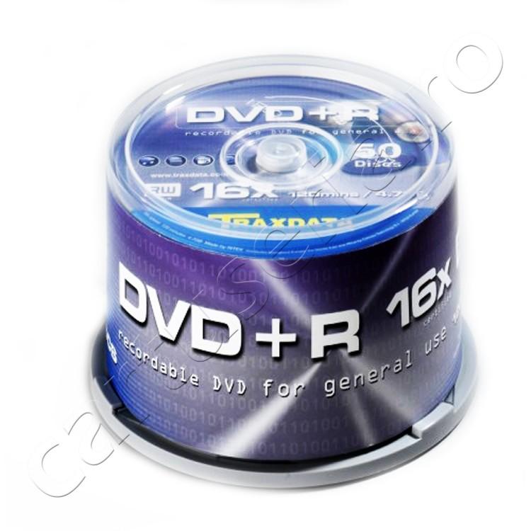 Set 50 Dvd 4.7gb 16x Traxdata Unitate: 10 Buc.
