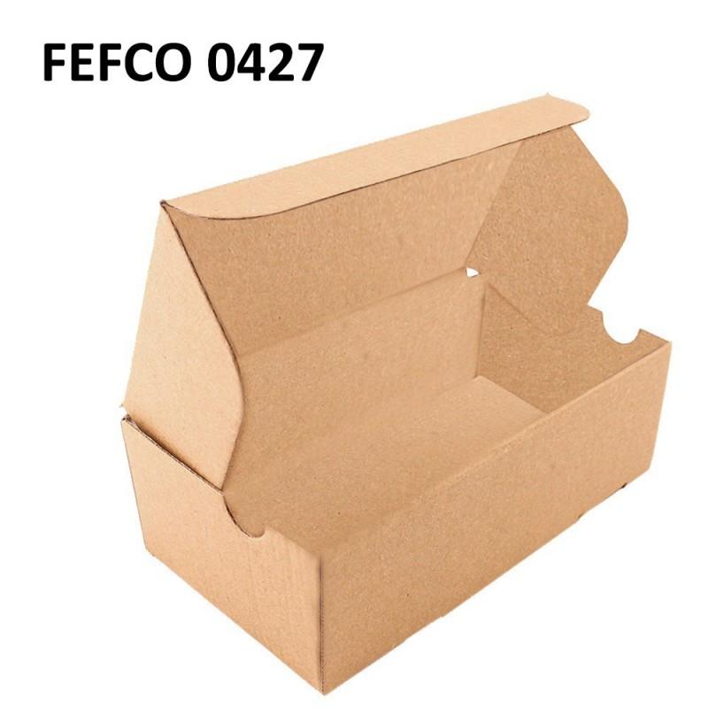 Cutie cu autoformare 250x150x100 mm, carton natur microondul E 360 g, FEFCO 0427