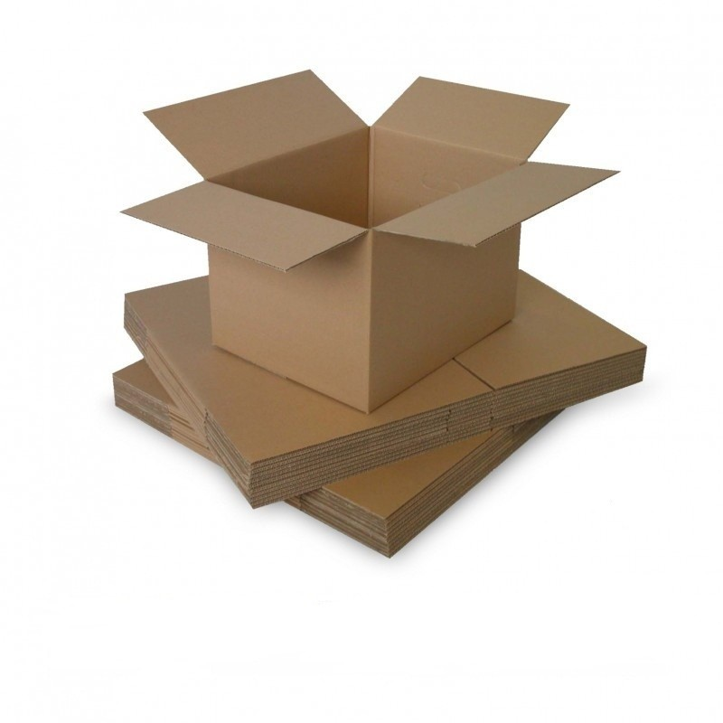 Cutie carton 100x100x250, natur, 3 straturi CO3, 420 g/mp