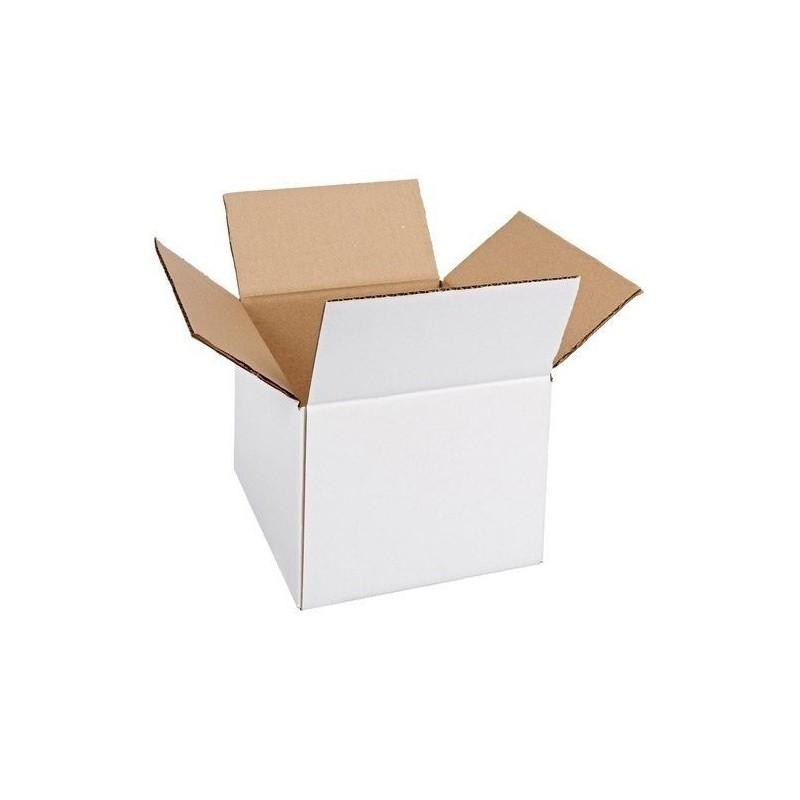 Cutie carton 100x100x250, alb, 3 straturi CO3, 470 g/mp