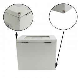 Album foto din lemn alb, tip cutie personalizabila, stocare 96 fotografii 10x15, resigilat
