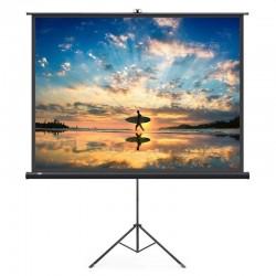 Ecran pentru proiectare, format 16:9 100 inch, trepied, inaltime ajustabila, portabil