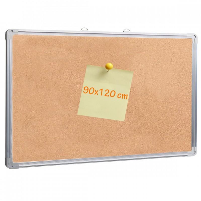 Panou pluta cu rama din aluminiu, 90x120 cm, afisare documente, fixare perete