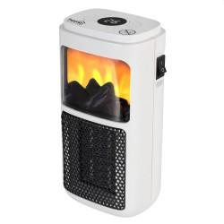 Radiator ceramic portabil, 400W, efect de flacara, timer