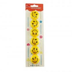 Magneti Smiley Face, diametru 35 mm, set 6 bucati