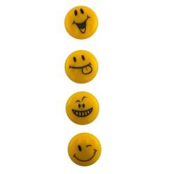 Magneti Smile Face, diametru 4 cm, set 4 Emoji diferiti