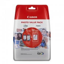 Kit hartie si cartuse originale Canon PG545XL CL545XL, negru si color
