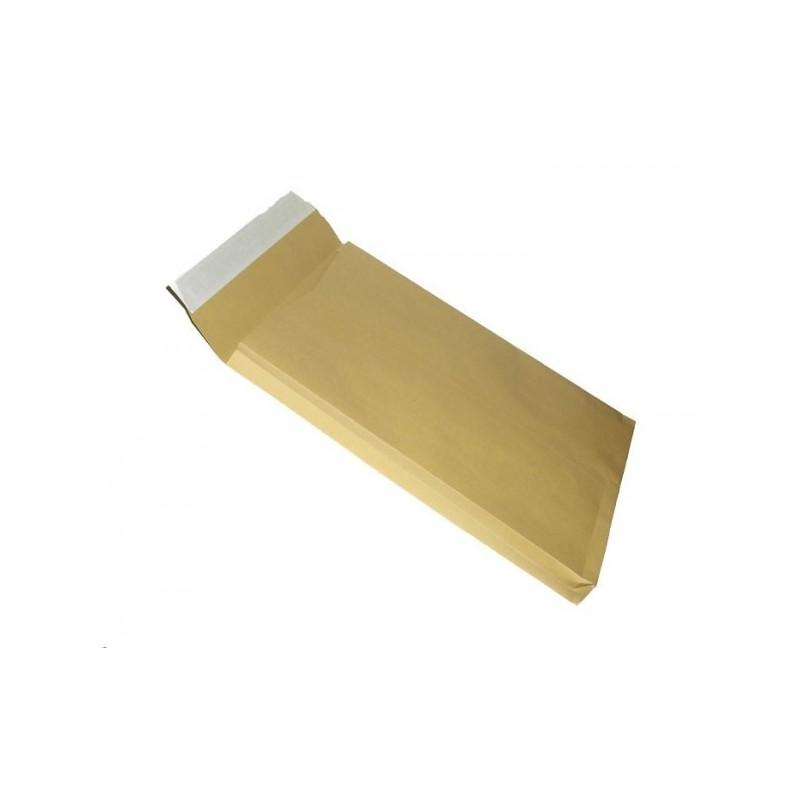 Plic cu burduf 30 mm Kraft natur TB/4 format B4 250x356mm