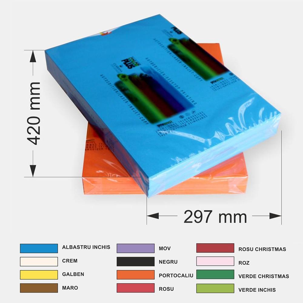 Hartie Color A3 80g/mp Pentru Copiator Culoare: Roz