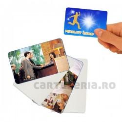 Carduri PVC printabile inkjet fata-verso albe, set 20 bucati
