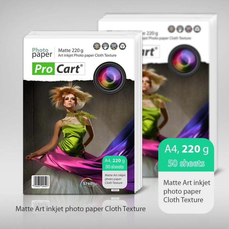 Hartie FOTO Art A4 cu textura de material textil MATA 220g