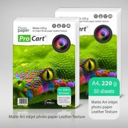 Hartie FOTO Art A4 cu textura de PIELE MATA 220g