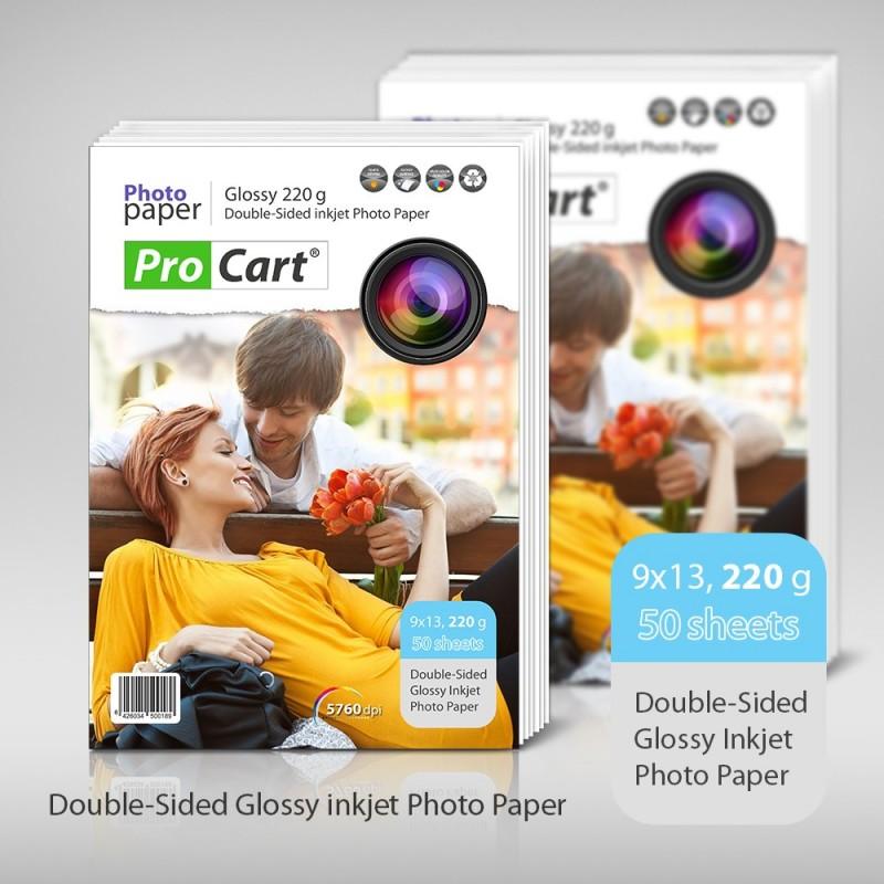 Hartie FOTO Dual Side 9x13 High Glossy 220gr