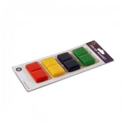 Magneti patrati colorati 30mm pentru tabla