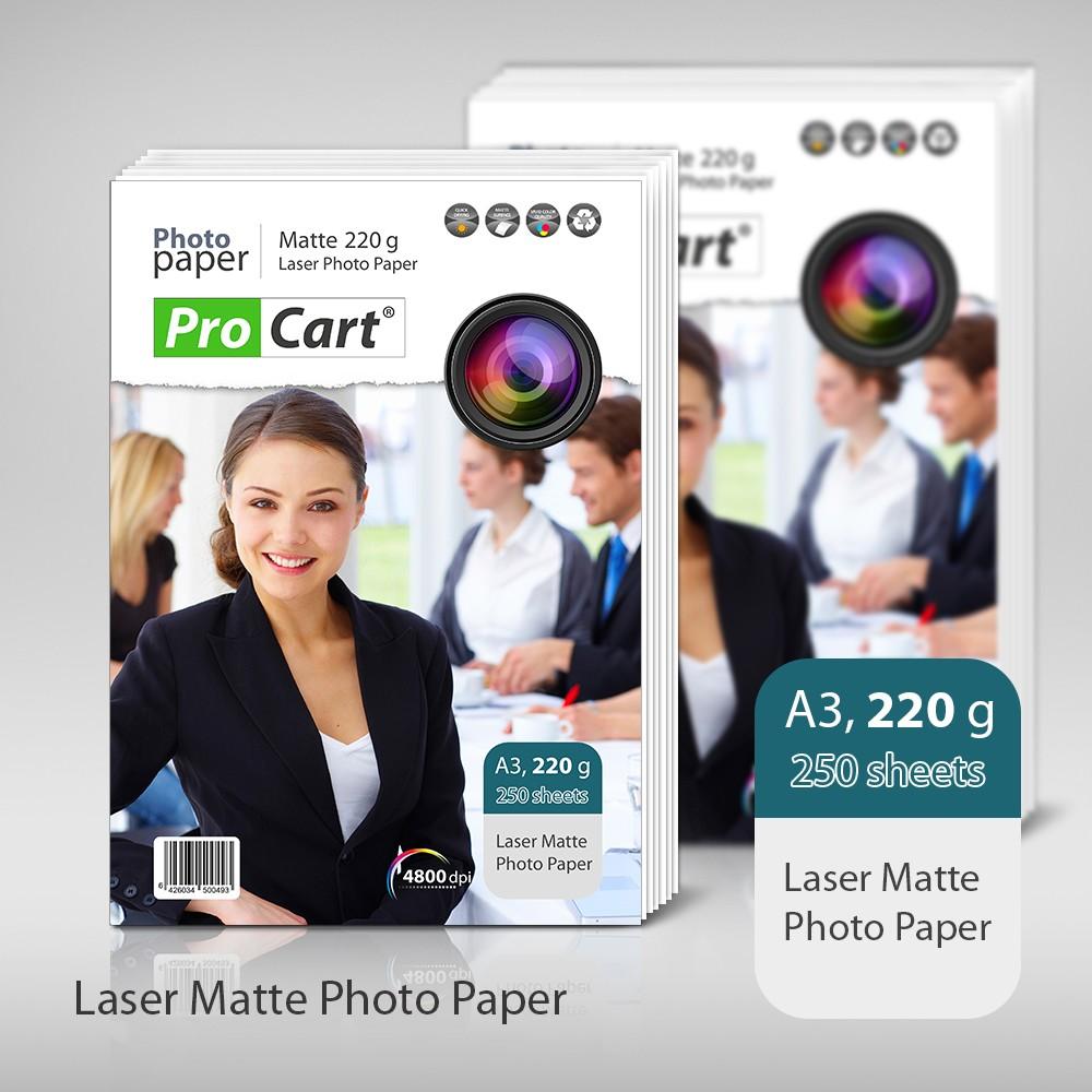 Top 250 Coli De Carton Laser Mat 220g Format: A3
