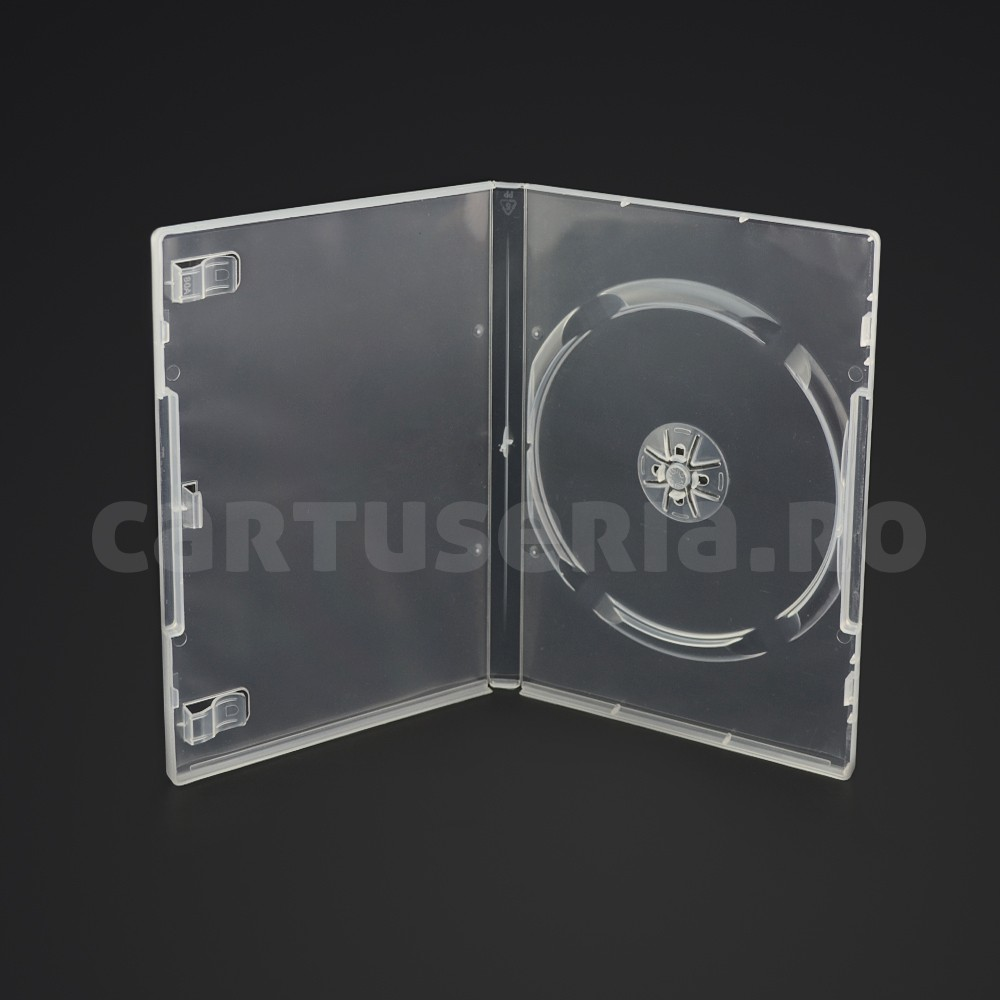Carcasa Dvd Plastic 14 Mm Culoare: Transparent