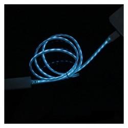 Cablu USB pentru IPHONE 5 cu efect luminos curgator